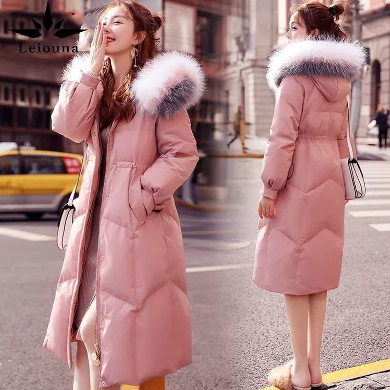 Leiona-معطف نسائي شتوي, معطف نسائي شتوي طويل بقلنسوة متوفر بعدة مقاسات مناسبة للخروج