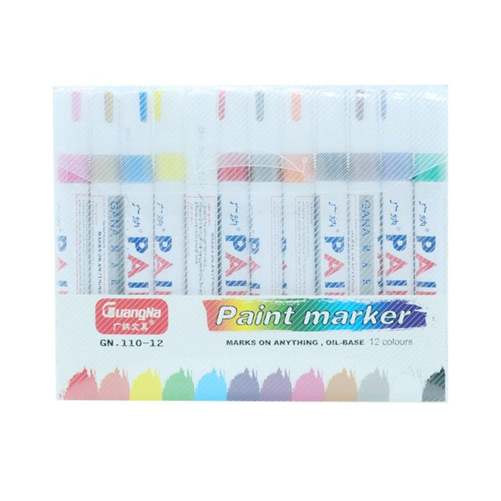 12-pz-lotto-colorful-impermeabile-penna-auto-della-gomma-del-pneumatico-cd-in-metallo-vernice-permanente-marcatori-graffiti-marcatore-grassa-penna-di-cancelleria-per-ufficio