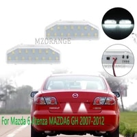 2pcs led license number plate light for mazda 6 atenza mazda6 gh 2007 2008 2009 2010 2011 2012 mazda gs1d 51 270e gs1d51270e