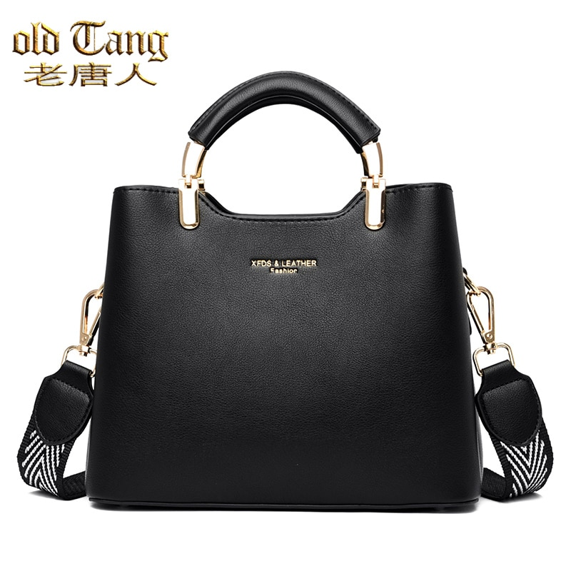 OLD TANG Female Casual Tote High Quality Pu Leather Ladies Hand Bags For Women 2020 Simple Shoulder