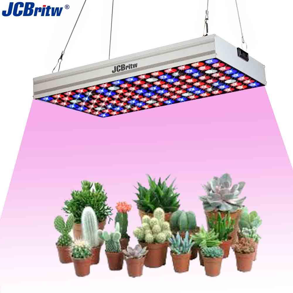 JCBritw светодиодный светильник для выращивания, панель, полный спектр, УФ-ИК с цепочкой ромашки, 100 Вт, профессиональная лампа для выращивания ...
