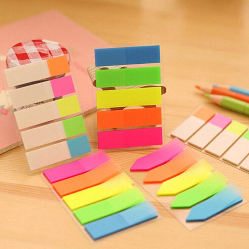 Niños 5 uds = 20 hojas autoadhesivas Bloc de notas de colores...