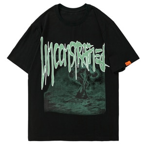 LACIBLE Hip Hop Harajuku Streetwear Oversize T-Shirt Graphic Printed T Shirt Cotton Loose Tshirt Men 2021 Summer Short Sleeve