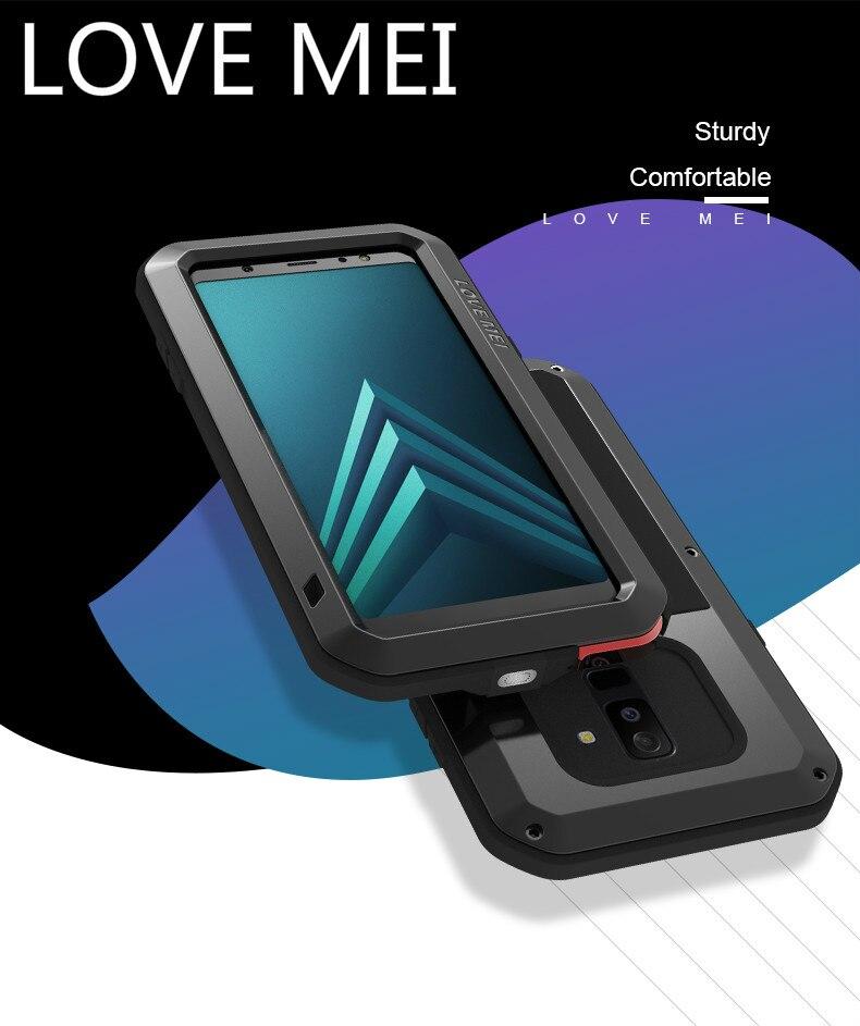 AMO Caso MEI Para Samsung Galaxy A6 2018/Galaxy A6 Plus 2018 Impermeáveis à prova de Choque À Prova de Sujeira Resistente Armadura De Metal tampa da Caixa Do Telefone Caso de telefone & Covers    -