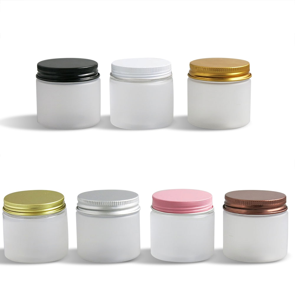 A geada de 24 x travell 60g compõe o frasco de creme com tampas do metal 60cc 2oz recipientes cosméticos do animal de estimação para o uso do creme