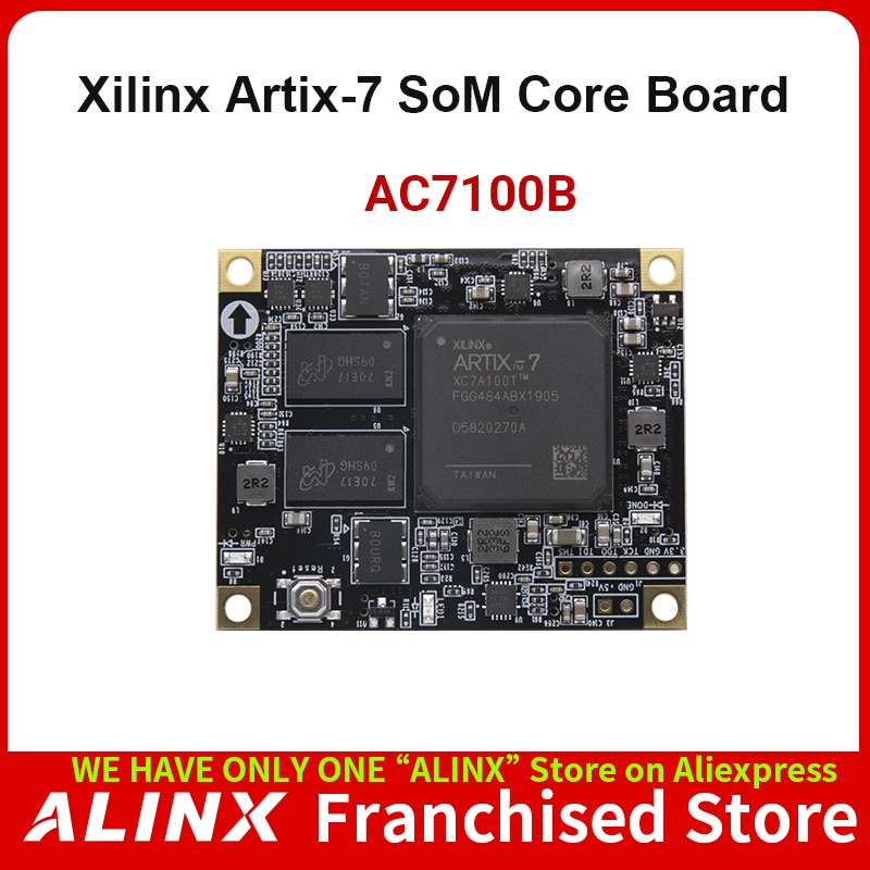 ALINX SoM AC7100B: XILINX Artix-7 XC7A100T FPGA Core Board Industrial Grade Module