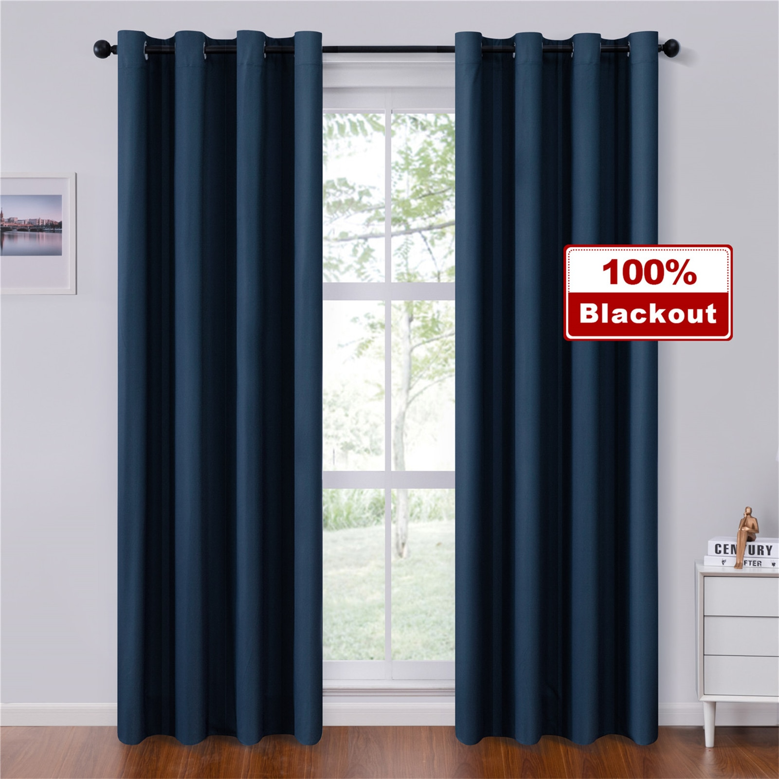 modern printed blackout curtains for living room bedroom window thick curtains for kitchen blinds drapes finished curtain panels Topfinel Solid Blackout Curtains For Bedroom Living Room Window Treatment Blinds Decoration Modern Thicken Finished Drapes
