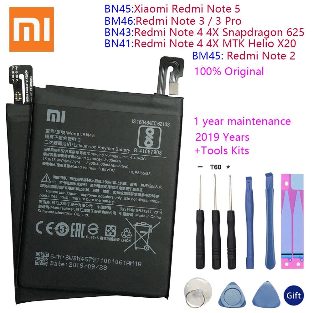 BN43 BN41 BM45 BM46 BN45 Bateria Para Xiaomi Redmi Nota 5 4 4X 3 2 Note2 Note3 Note4 Note4X Substituição Bateria de Polímero de Lítio