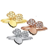 womens flower noble zircon ring 925 sterling silver romantic couple gift star style luxury style ttff