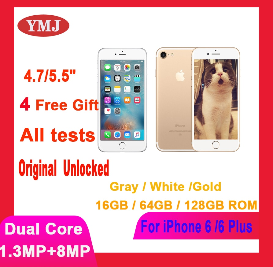 Used Apple iPhone 6  6 plus 6p Cell Phones Original Unlocked 4.7/5.5'' inch IPS Mobile Phone16/64/128GB ROM GSM WCDMA Smartphone