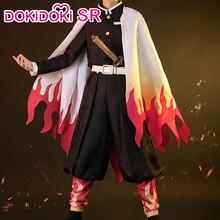 Dokidoki-sr, Costume de Cosplay pour homme, déguisement Kimetsu no Yaiba, Rengoku Kyoujurou, Cosplay rangoku no Yaiba