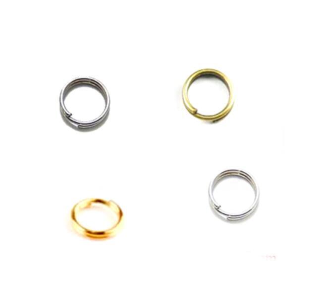 6mm 40 Uds anillos de salto anillo dividido doble bucles cordón celular collar borla gancho conector bolsa encanto colgante cierre Decoración