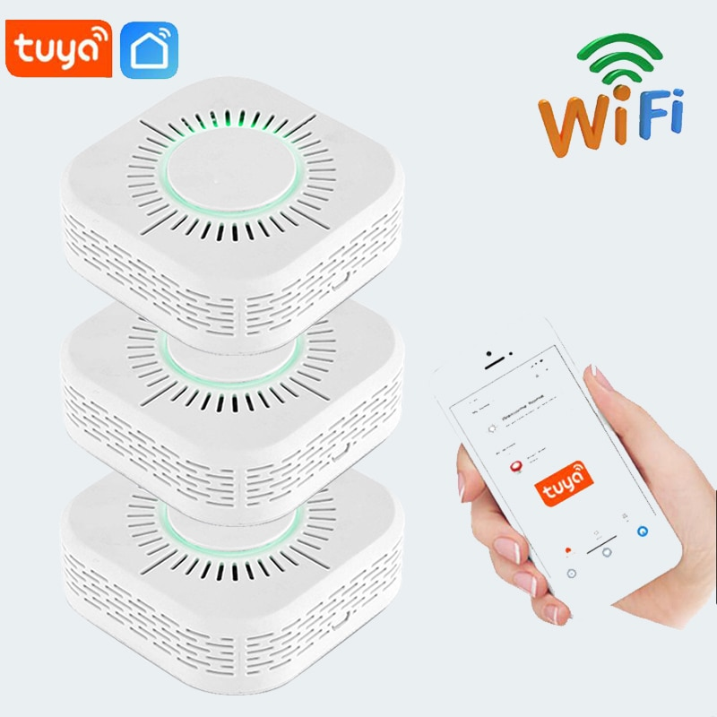 Tuya Smoke Detector Wifi Wireless Smoke Fire Alarm Sensor,Security Protection Alarm for Home Automation with Smart Life App