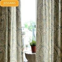 european style light luxury printed curtains blackout curtains for living room and bedroom finished products customization