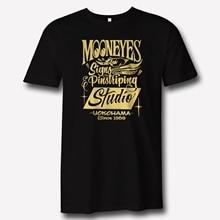 Mooneyes Moon Equipped Speed Signs Pinstriping Studio Apparel logo Black T Shirt