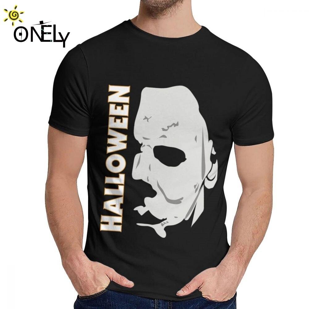 Camiseta de Halloween para hombre, Michael Myers, sororicida, Película gráfica de algodón...
