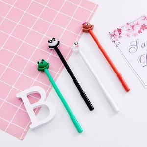 40PCS Cute Blinking Frog Bear Gel Pens 0.5mm Black Student Stationery Kawaii School Supplies