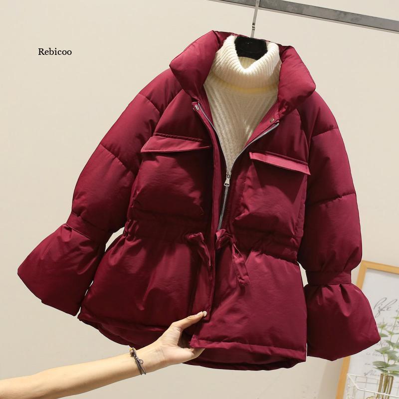 Женские зимние куртки, парки, мода 2021, толстые женские топы с рукавами, куртки, тонкие однотонные милые куртки для женщин