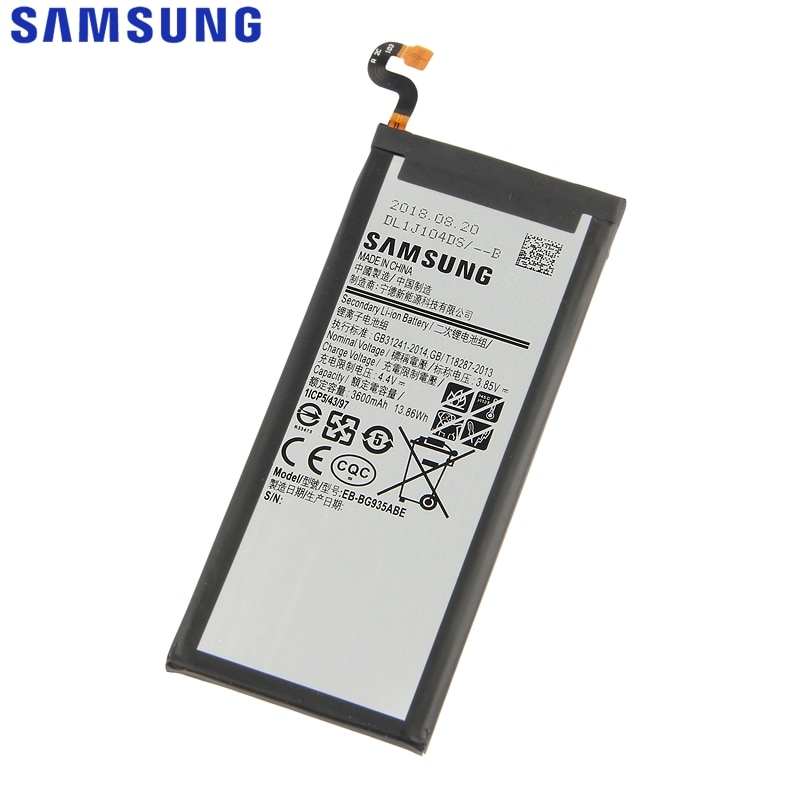 SAMSUNG Original Replacement Battery EB-BG935ABE For Samsung GALAXY S7 Edge SM-G935F G9350 G935FD EB-BG935ABA Battery 3600mAh enlarge
