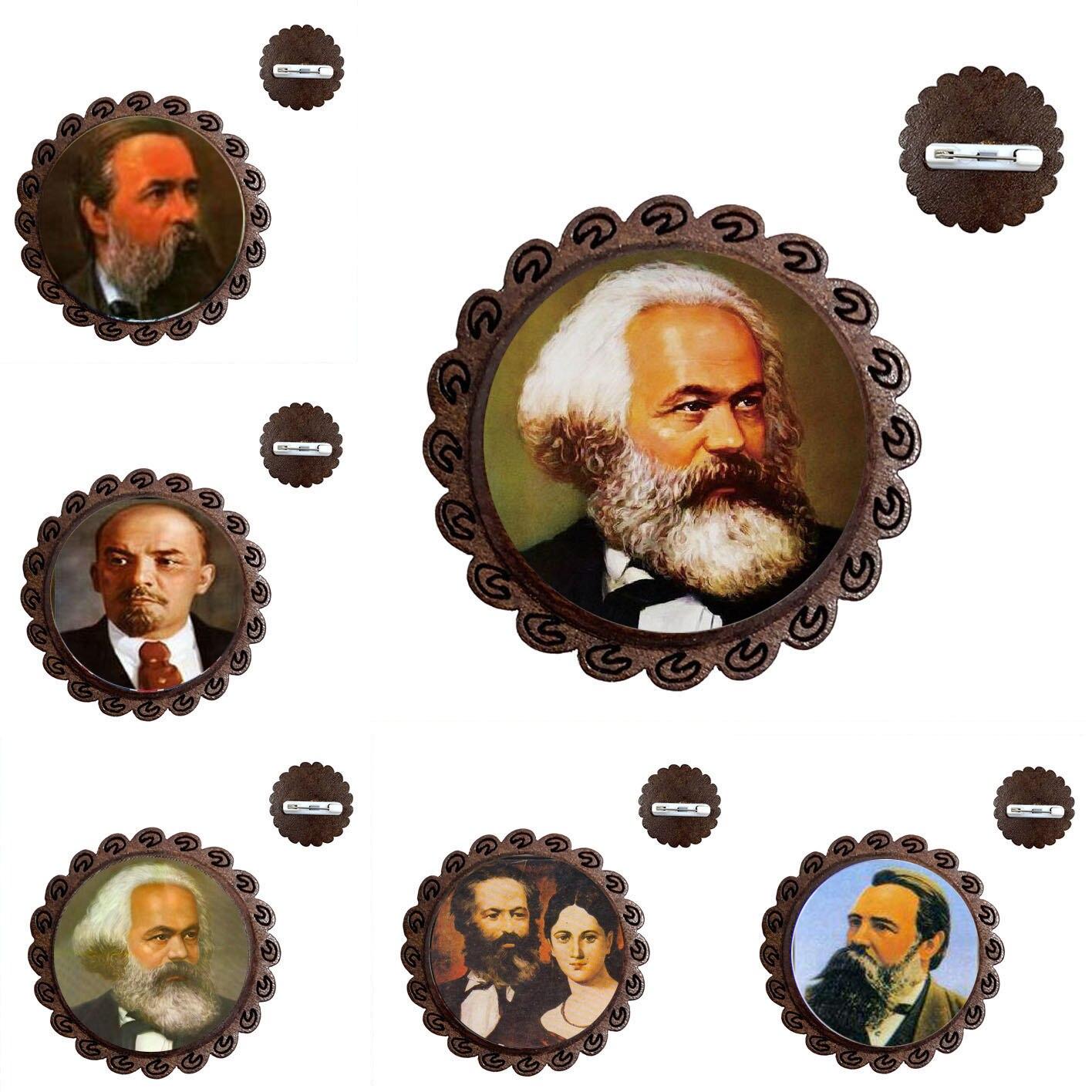 Broche marxista-leninista Mao Zedong pensador cristal de 20mm Gema del Time producción...