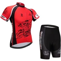 cycling skinsuit mens set fashion long zipper jersey summer clothing jumpsuit short sleeve customized gel breathable pad shorts