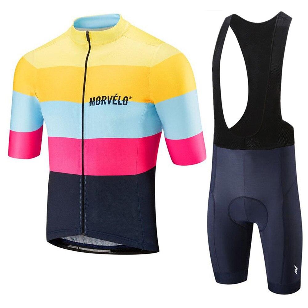 Pro morvelo camisa de ciclismo manga curta kit roupas bicicleta mtb triathlon uniforme maillot raiders jérsei