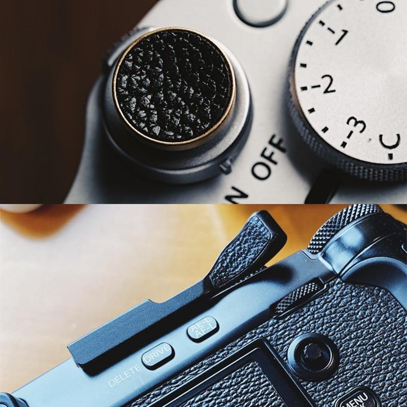 جلد معدني الإبهام حتى قبضة + زر مصراع مقعر للكاميرا فوجي فيلم X-PRO3 XPRO3