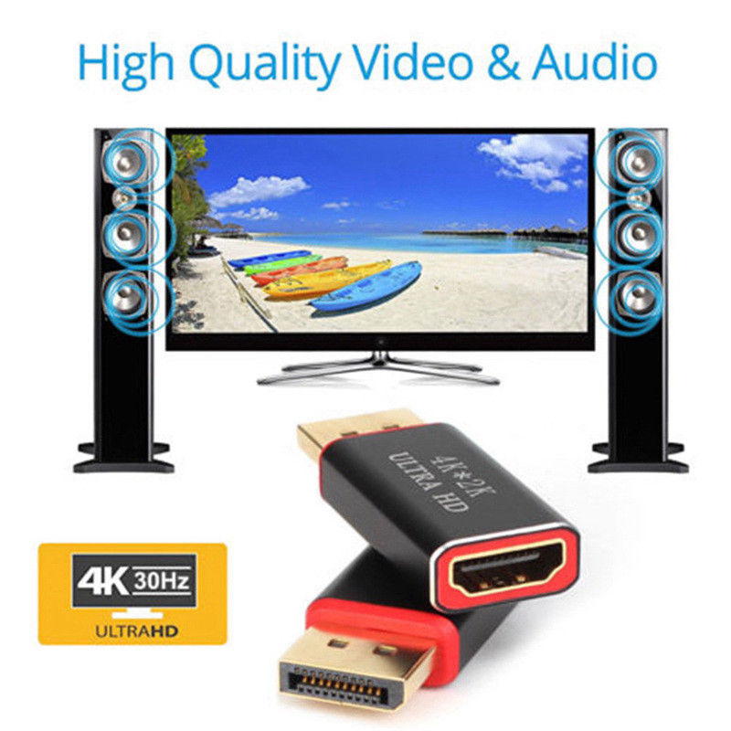 1PC AV Adapter/Converter 2160P Display Port To HDMI-compatible Adapter/Cable DP Adapter Converter For PC Laptop Monitor