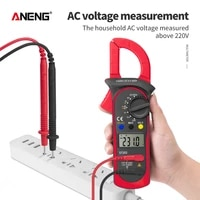 digital clamp multimeter st202 resistance ohm transistor testers acdc current voltmeter lcr clamp meter with temperature