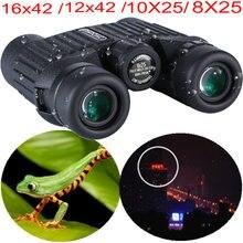 Visão noturna binocular caça trail binóculos 12x42 16x42 10x25 8x25 à prova dwaterproof água hd câmera binocular telescópio nv googles cam