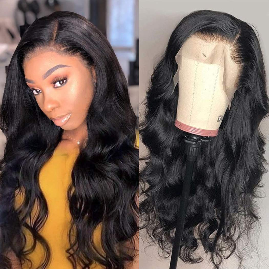 ALEESA Water Body Wave Wig for Black Women 13x4 Lace Frontal Human Hair Wigs PrePlucked Knots Remy Closure Curly Weave Brazilian