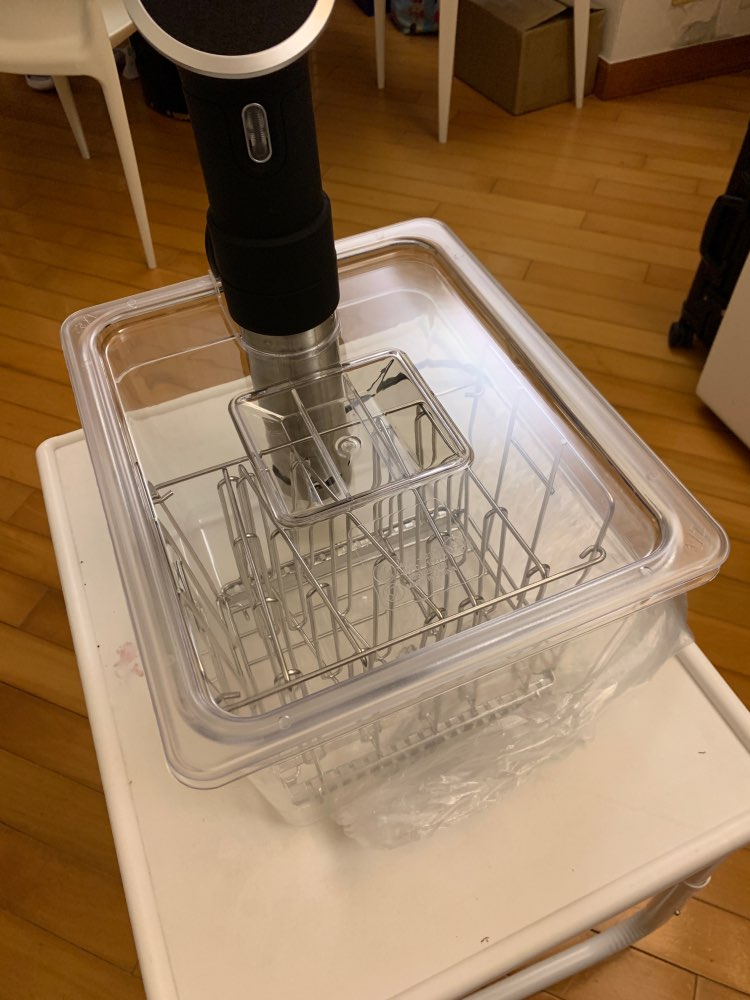 Recipiente plegable con bisagras Sous Vide, con tapa para circulador Sous Vide, olla de precisión culinaria, capacidad de 11 litros