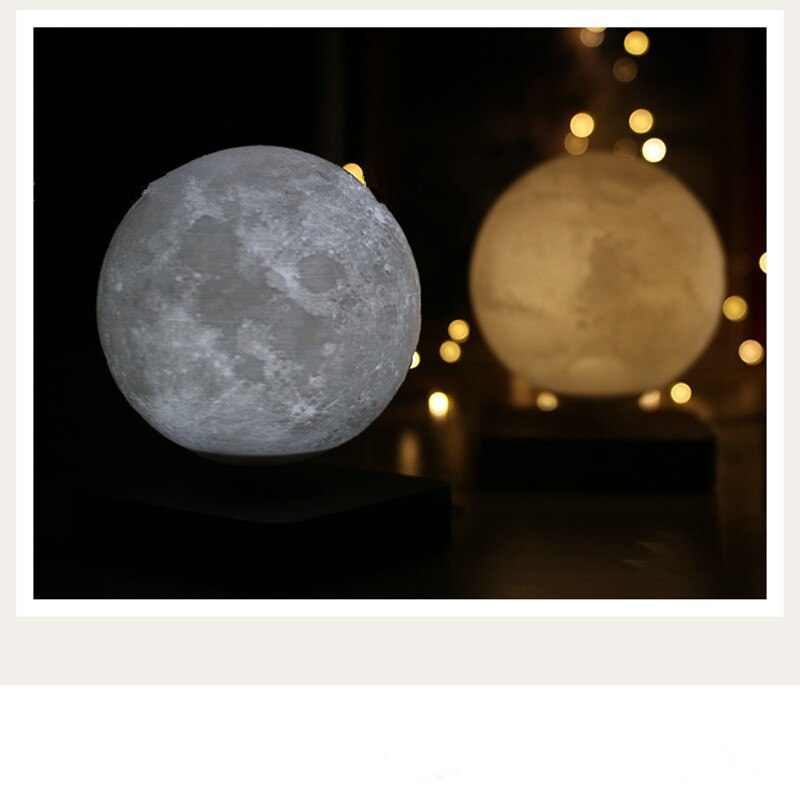 moonlight Magnetic Levitation 3D Moon Mars Jupiter Night Light Free Rotation Unique Gift Home Decoration Holiday Light