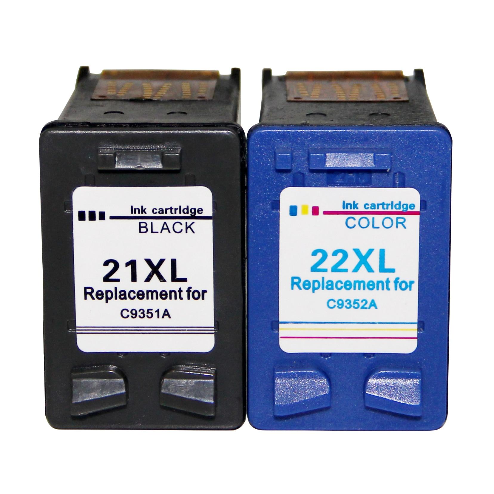 Veteran Remanufactured 21 22 xl ink cartridges fo HP21 22 HP22 for hp Deskjet F2280 F2180 F4180 F300 F380 F2100 F2200 printers