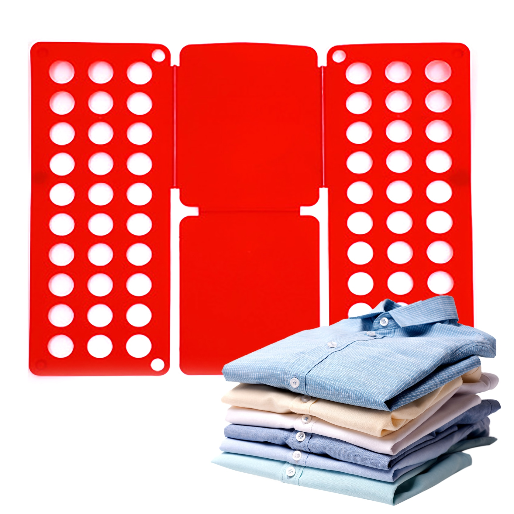 Home decoration Multi-funcitonal Convenient Clothes Folding Board Save Time Fast Speed T-Shirt dress shirts Fold Save Space 1PC clothes folding board fast cloth folder plastic t shirts jumper organizer save time quick convenient stacking laundry fold board