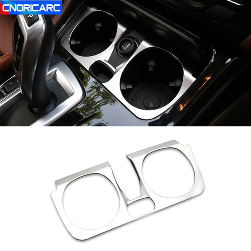 Center Console Front Water Cup Holder Cover Decoration Sticker For BMW 5 Series F10 2014-2017 Automotive Interior Accessories