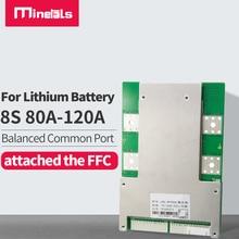 8S 24V Bms 80A 100A 120A Functie Kortsluiting Met Dezelfde Poort Lithium Batterij Pack Met Balans lifepo4 Bms