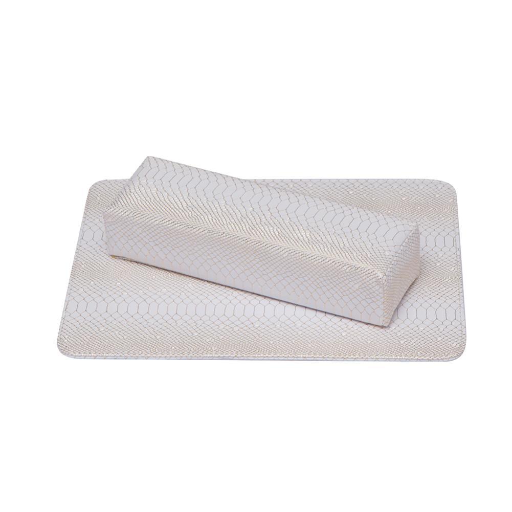 Snake Skin Table Pad Hand Pillow Sponge Arm Rest Cushion Nail Art Soft Hand Rests Nail Mat Pad Salon Manicure Tool
