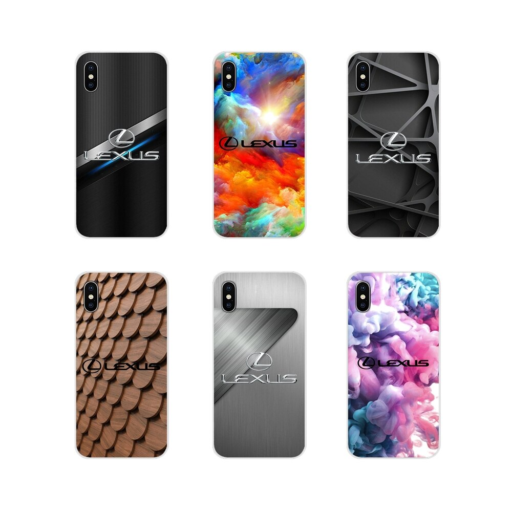 Accesorios de la cáscara del teléfono cubre coches de lujo Lexus Logo para iPhone X de Apple XR XS MAX 4 4S 5 5S 5C SE 6 6S 7 7 Plus ipod touch 5 6