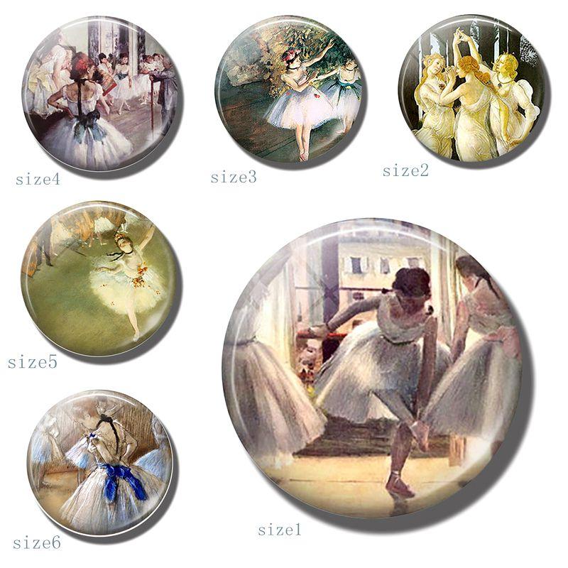 Балерины искусство 30 мм магнит на холодильник танцевальный стеклянный купол холодильник наклейка Дега балет держатель для нот балет для учителя домашний подарок