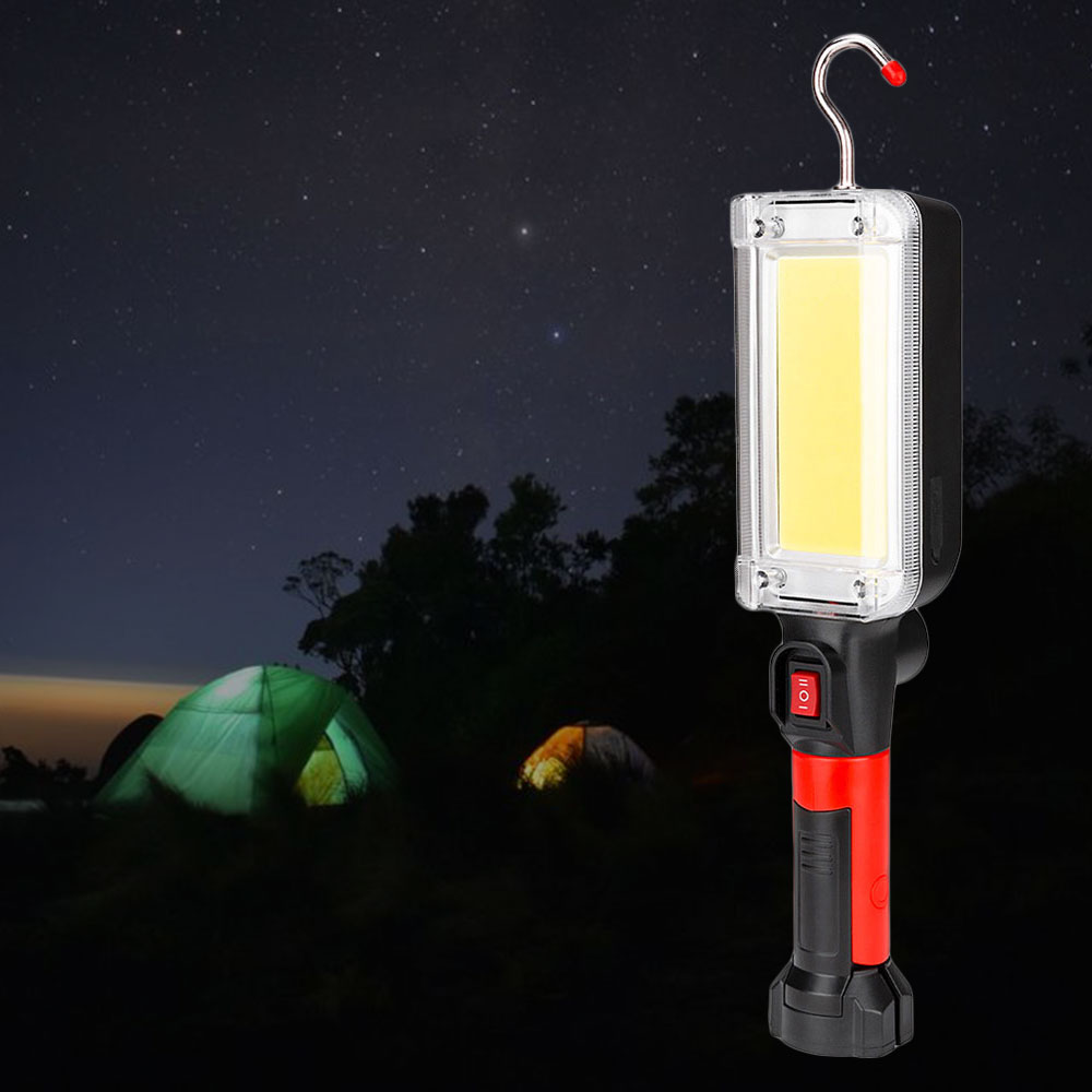 Led work light cob floodlight 700LM rechargeable lamp use 2*18650 battery led portable magnetic light hook clip waterproof