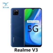 Realme V3 5G мобильный телефон 6 ГБ/8 ГБ Оперативная память 64 Гб/128 ГБ Встроенная память Dimensity 720 Octa Core 5000 мАч Батарея 18W отпечатков пальцев мобильных телефонов