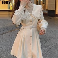 kawaii elegant dress female office lady casual japanese korean dress women spring sweet designer party mini dress women 2021 new