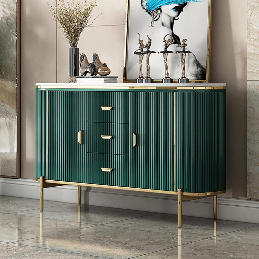 Aparadores de lujo ligeros para gabinete, Post-moderno aparador, porche de casa, sala...