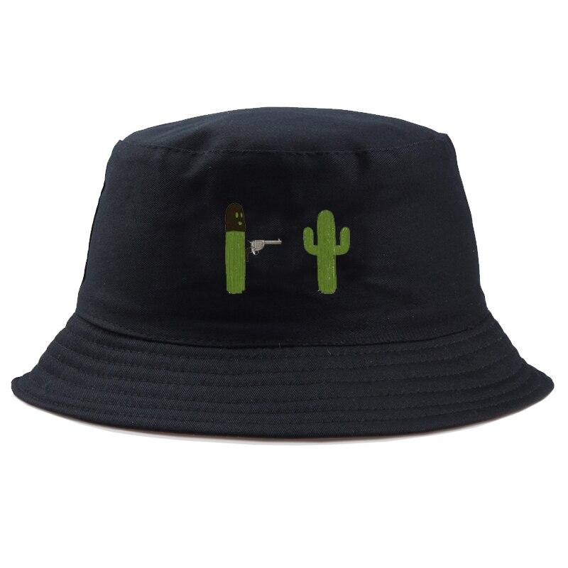 Sombrero de verano cubo para hombres mujeres hip hop Cactus con pistola pescador sombrero adulto Panamá bob sombrero divertido sombrero para niña Niño