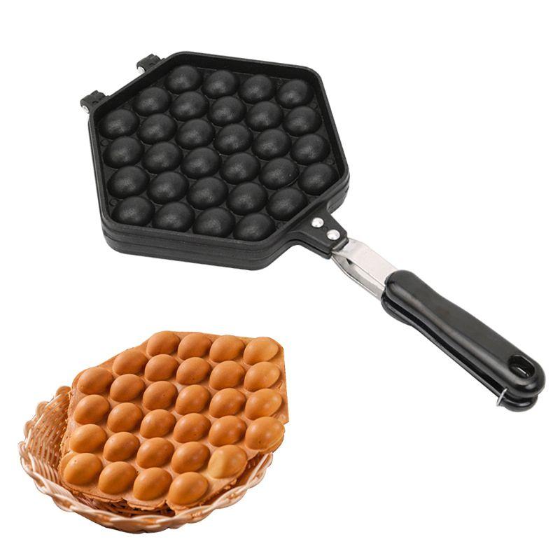 Qq ovo bolha puff bolo cozimento pan waffle fabricante placa de molde antiaderente revestimento diy ferramenta de cozinha