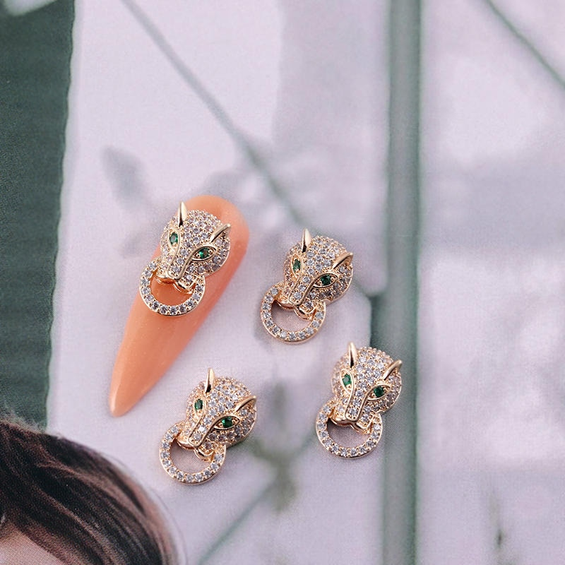 10pcs TN5067 Alloy Zircon animal Nail Art Crystals nail jewelry Rhinestone nails accessories supplies nail decorations charms