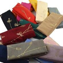 Popular Glitter Floral Thin Scarves Cotton Linen Head Wrap Women Muslim Hijabs Islamic Veil Turban Long Shawl Lightweight