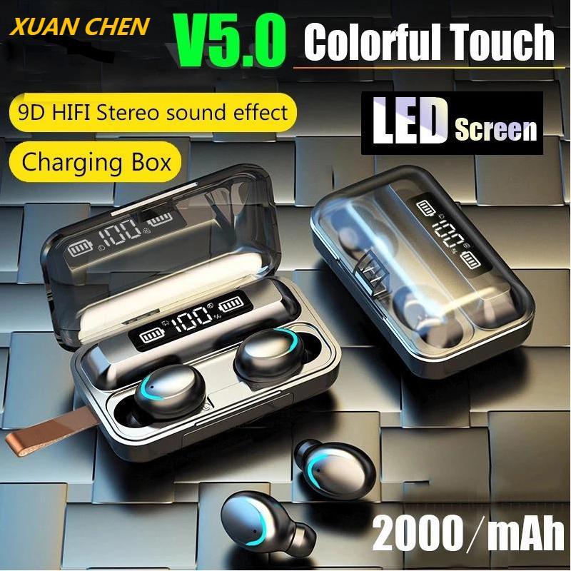 TWS Bluetooth Earphones LED Display Charging Box Wireless Headphone 9D Stereo Sports Waterproof Earb