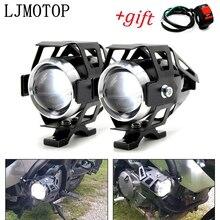 Motorfiets Koplampen Extra Lamp U5 Led Spotlight 12V Drl Voor Suzuki Dr 200 250 DR350 350 Drz 400 650 DR650